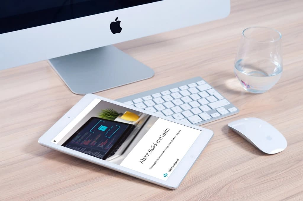 one page website laten maken tablet