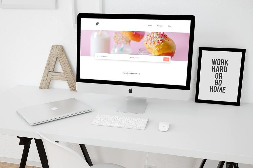 recepten website laten maken met blog desktop
