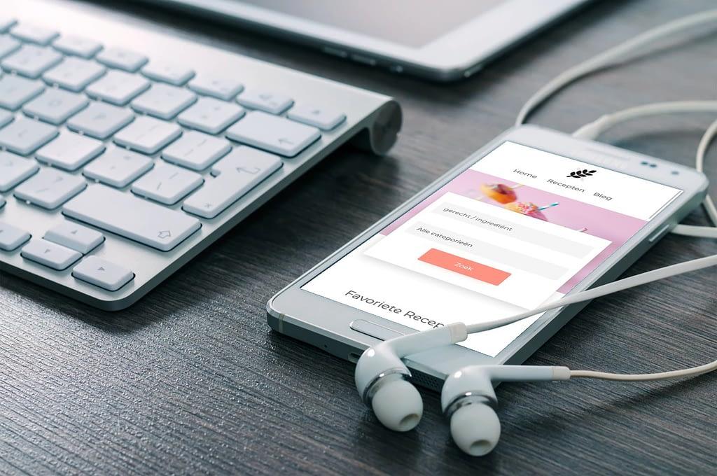 recepten website laten maken met blog mobile