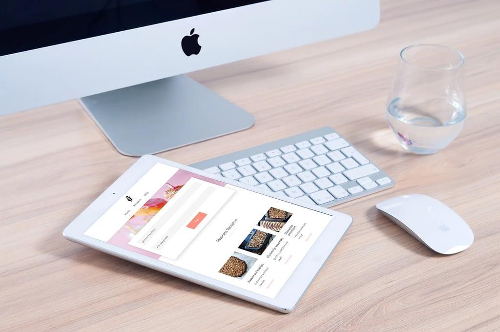 recepten website laten maken met blog tablet