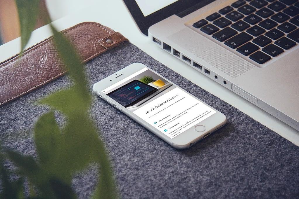 one page website laten maken mobile