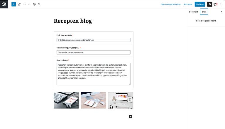 Page builders wordpress alternatief Advanced Custom Fields